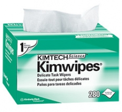 """Wipes,  Delicate Task Wipes, Disposable, Popup Box, 4.5"""" x 8.5"""", White, 280/pack, KimWipes®"""