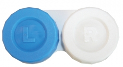 Case, Contact Lens with Screw-top lid