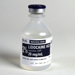 Lidocaine Hydrochloride Injecton, 2%, 50mL, Multidose Vial