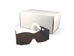Mydriatic Specs with Cardboard Temples Pediatric, Amber, 50/box