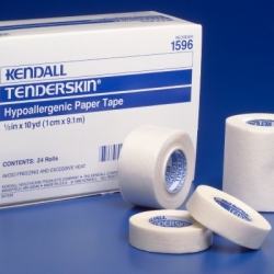 """Tape,Paper, Hypoallergenic, 1"""" x 10 yards,  (Continental US Only)"""