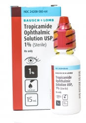 Tropicamide Ophthalmic Solution,1%, 15ml, (Sterile with Sterilized Dropper)